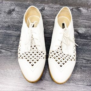Forever 21 white lace up shoes